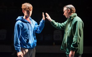 Luke Treadaway as the protagonist in The Curious Incident of the Dog in the Night-time. Courtesy of Manuel Harlan.