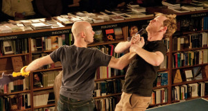 The Factory's Odyssey as performed in Blackwell's Bookshop in Oxford. Credit: Judie Waldmann