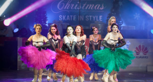 Burlesque On Ice has its world premiere in London this week. Credit: Tigz Rice Studios