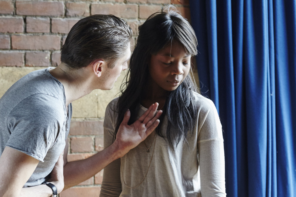 David Burnett and Mimi Ndiweni in Jefferson's Garden rehearsals - Credit: Richard Lakos