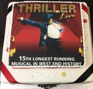 Thriller Live 15th Celebrations Cake