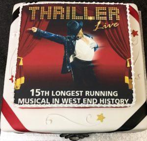 Thriller Live 15th Celebrations Cake