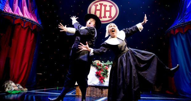 Ashley Bowden and Laura Dalgleish in 'Horrible Histories - More Best of Barmy Britain' at Garrick Theatre West End (Photo by Jack Sain)