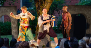 Iris Theatre's The Tempest, St. Paul's Church (Paul Brendan, Prince Plockey and Reginald Edwards) - courtesy of Nick Rutter
