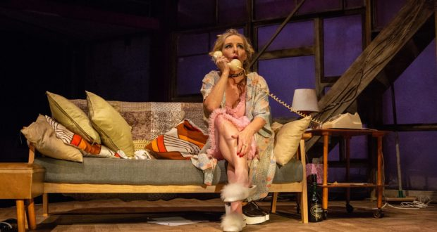 Sally George in The Rise and Fall of Little Voice at Park Theatre. Photo by Ali Wright-49