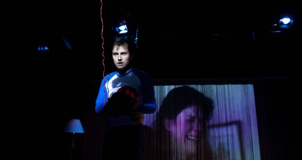 Adam Welsh in 'There but for the grace of God (go I)' at Soho Theatre (Photo credit Peter Corkhill)