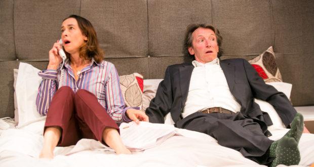 Parents' Evening - Jermyn Street Theatre - Amy Marston (Mother), Peter Hamilton Dyer (Father)2 - photo Harry Livingstone