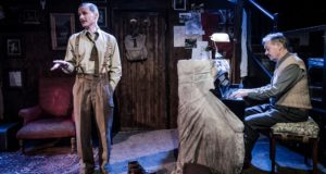 Billy Bishop Goes to War - John Gray and Eric Peterson - Jermyn Street Theatre - 31 October 2018Director - Jimmy WaltersDesigner - Daisy BlowerLighting Designer - Arnim FriessSound Designer - Dina MullenBilly Bishop - Charles AitkenOlder Billy Bis