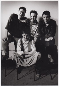 Cast members of the 1989 gala performance. All four returned to sing in the Awfully BIG Performance