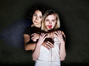 Directed by Rebecca, Cuddles told the story of a 13 year old Vampire who has been locked in her room all her life. Photo courtesy of the Ovalhouse