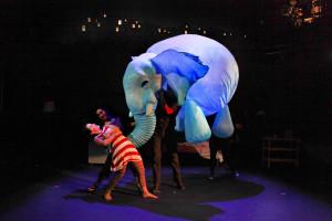 Audrey Brisson as Girl and the Elephantom. Photo: Charlotte Macmillan