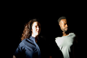 Derbhle Crotty and Clifford Samuel as Claire and The Boy Photo by David Levine
