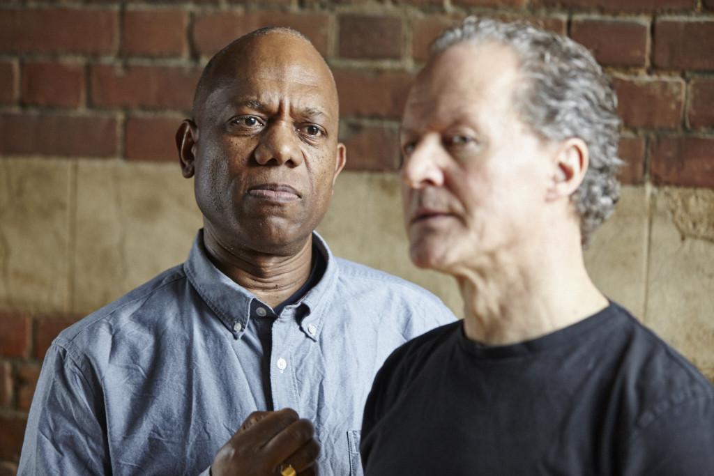 Burt Caesar and William Hope in Jefferson's Garden rehearsals - Credit: Richard Lakos