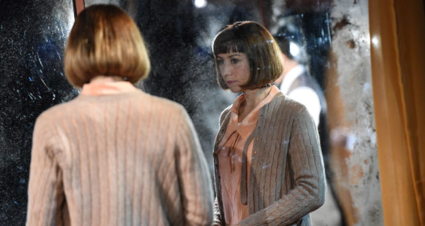 Claire Lams in 'Kiss Me' by Richard Bean at Trafalgar Studios(Photo by Robert Day)