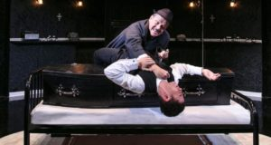 Christopher Fulford and Sam Frenchum in 'Loot'